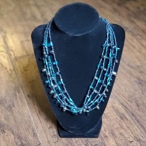 Glass Beaded Layered Necklace